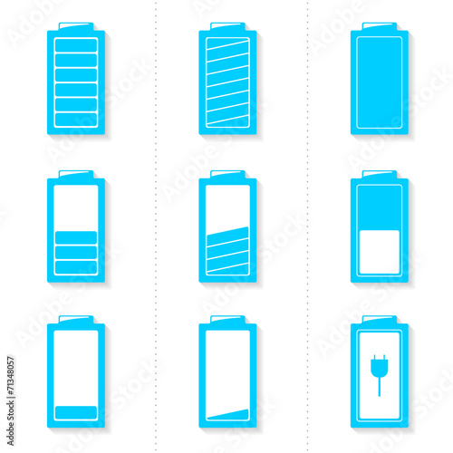 Set of battery icons with different level of charge - 71348057