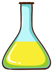 A simple coloured sketch of a lab glassware
