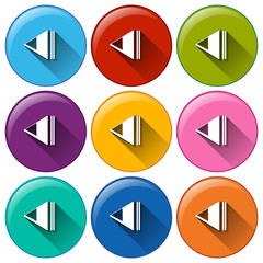Round icons with rewind buttons
