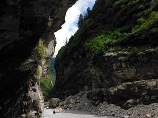 Narrow Gorge in the Lower Annapurna Himalayas