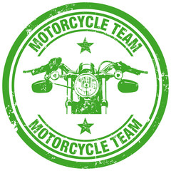 motorcycle team stamp