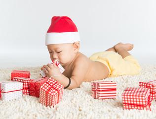 Asian Santa baby