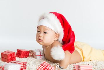 Asian Santa baby boy