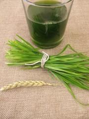 Frischer Weizengrassaft
