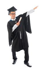 Asian college student grad