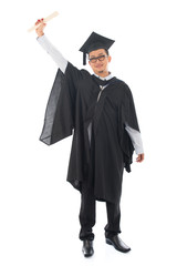 Asian adult student graduation