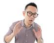 Asian man get shocked