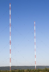 Radio communication poles