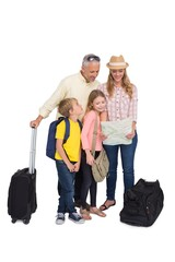 Happy family ready for a holiday