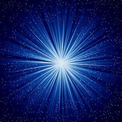 A Blue color design with a burst. lens flare.