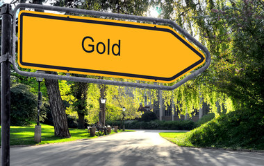 Strassenschild 25 - Gold