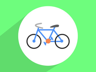 Hipster retro bicycle  ,Flat design style