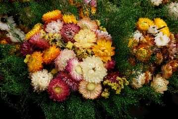 garland of dried flowers