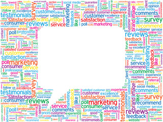 TESTIMONIALS Tag Cloud (satisfaction survey comments callout)