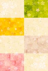 桜 和紙 年賀状