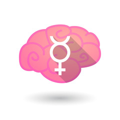 Brain with a transgender sign