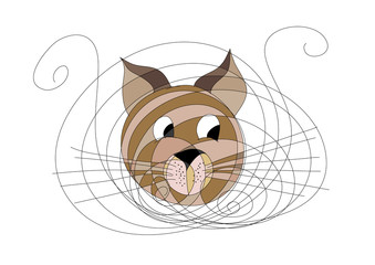 Abstract cat face