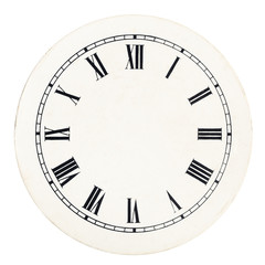 Vintage clock dial template