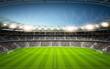 Leinwandbild Motiv Stadion Seitenlinie neutral