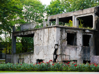 Demolished Westerplatte barracks