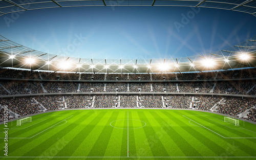canvas print picture Stadion Seitenlinie neutral
