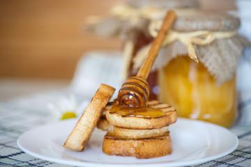toast with honey