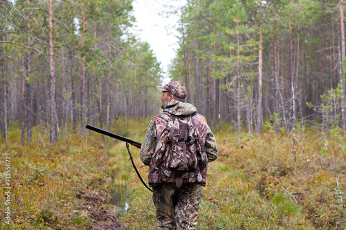 Fotobehang Jacht hunter outdoor