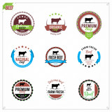 Fototapety Vector Beef Labels