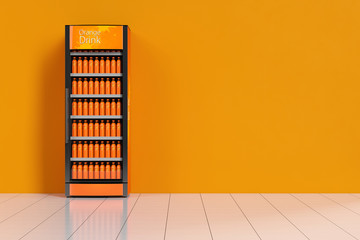 Getränkeautomat mit Orangensaft