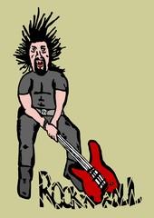 Smashing guitar