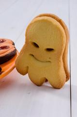 Halloween cookies, close-up