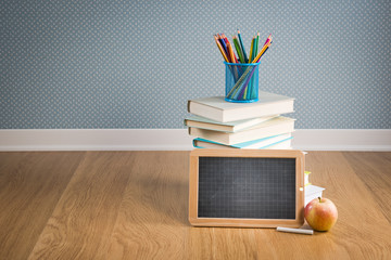 Back to school with blackboard