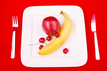Obst auf dem Teller