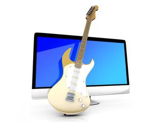 Gitarre und All in one Computer