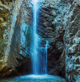 Fototapety Millomeris Waterfall in Rock Cave, Troodos mountains