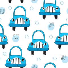 cute car pattern vector illustration