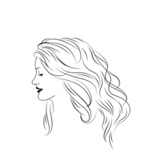 Portrait of girl in profile