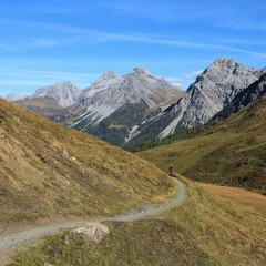 Weisshorn and foot-path, scene in Arosa