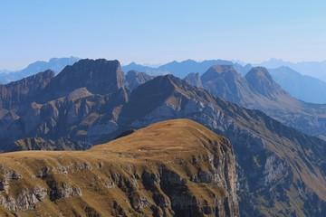 Churfirsten, view from Chaeserrugg