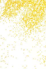 golden  glitter sparkle on white  background
