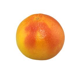 Ripe grapefruit on white