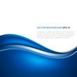 Fototapeta - Streszczenie niebieskim tle z wektora fali
