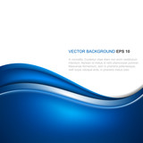 Abstract blue vector background with wave poster