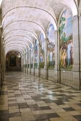 Inside of the Monastery of San Lorenzo del Escorial. Madrid.