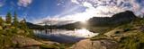 Fototapety Alba su lago di montagna
