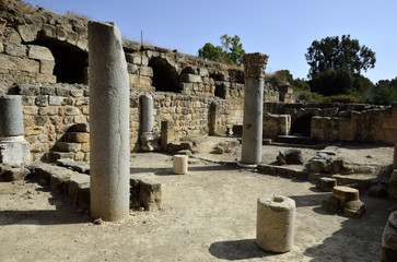 Agrippa palace ruins in Banias.