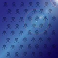 Vector wallpaper with skulls.