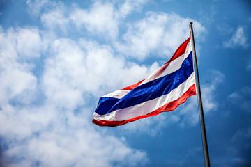 flag of Thailand on sky