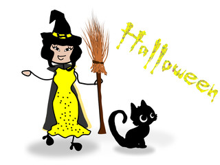Hexe, Halloween, Kostümparty