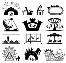 Childhood vector set. Pictogram icon set.
